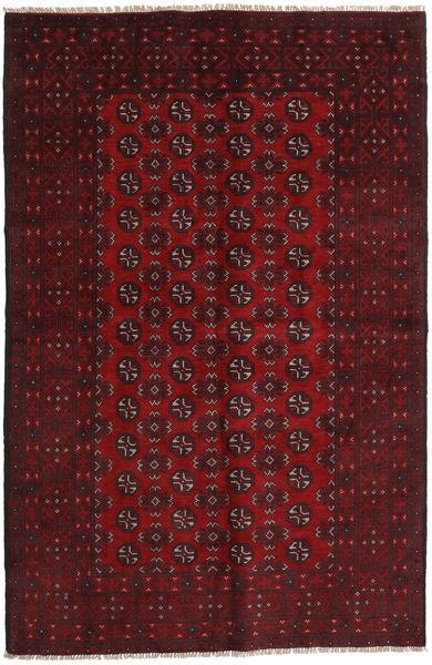 Afghan Rug 156X242 Authentic  Oriental Handknotted Dark Red/Dark Brown (Wool, Afghanistan)