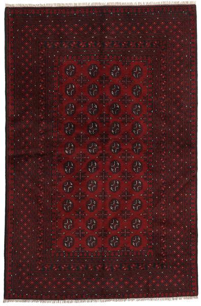 Afghan Rug 155X238 Authentic  Oriental Handknotted Dark Red (Wool, Afghanistan)