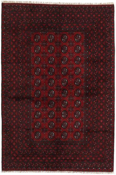 Afghan Rug 160X237 Authentic  Oriental Handknotted Dark Red (Wool, Afghanistan)
