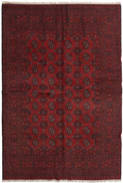 Afghan Tæppe 160X237 Ægte Orientalsk Håndknyttet Mørkerød/Mørkebrun (Uld, Afghanistan)