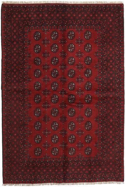 Afgan Dywan 158X234 Orientalny Tkany Ręcznie Ciemnoczerwony/Ciemnobrązowy (Wełna, Afganistan)