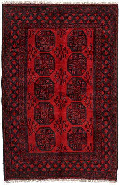 Afghan Rug 164X252 Authentic  Oriental Handknotted Dark Brown/Dark Red/Crimson Red (Wool, Afghanistan)