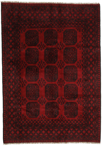 Afghan Alfombra 199X282 Oriental Hecha A Mano Rojo Oscuro (Lana, Afganistán)