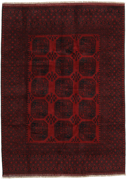 Afghan Rug 199X275 Authentic  Oriental Handknotted Dark Red (Wool, Afghanistan)