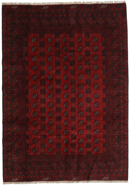 Afghan Rug 197X277 Authentic  Oriental Handknotted Dark Brown/Dark Red (Wool, Afghanistan)