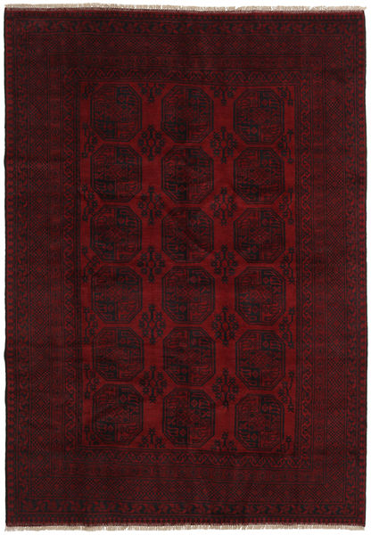 Afghan Alfombra 202X288 Oriental Hecha A Mano Rojo Oscuro (Lana, Afganistán)