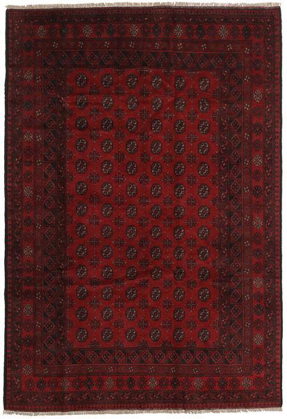 Afghan Rug 194X284 Authentic  Oriental Handknotted Dark Red (Wool, Afghanistan)