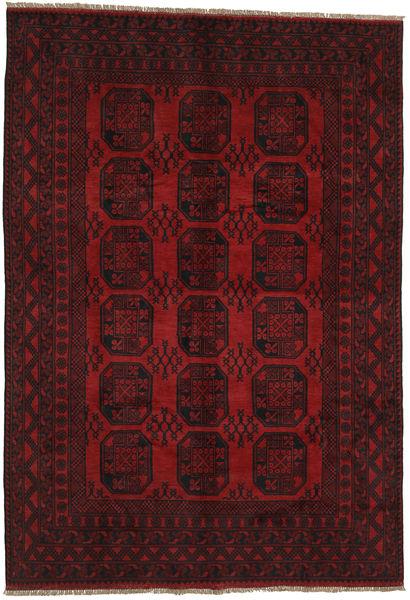 Afghan Rug 196X283 Authentic  Oriental Handknotted Dark Red/Crimson Red (Wool, Afghanistan)