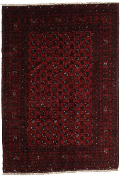 Afghan Rug 202X288 Authentic  Oriental Handknotted Dark Red (Wool, Afghanistan)