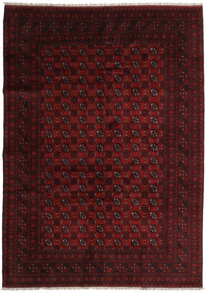 Afghan Rug 203X285 Authentic  Oriental Handknotted Dark Red (Wool, Afghanistan)