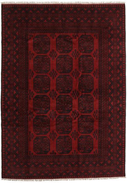 アフガン 絨毯 205X286 オリエンタル 手織り 深紅色の (ウール, アフガニスタン)