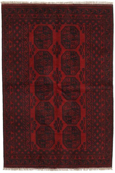 Afghan Matto 158X233 Itämainen Käsinsolmittu Tummanruskea/Tummanpunainen (Villa, Afganistan)