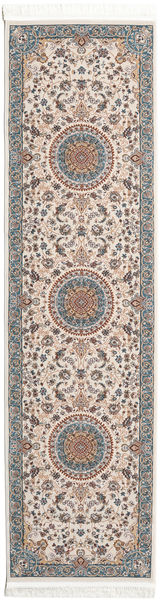 Negar Rug 80X300 Oriental Hallway Runner  Light Grey/Beige ( Turkey)
