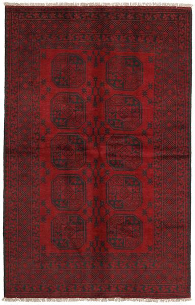 Afghan Rug 149X233 Authentic  Oriental Handknotted Dark Red/Dark Brown/Crimson Red (Wool, Afghanistan)
