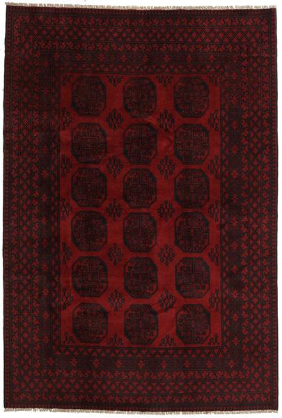 Afghan Matto 200X296 Itämainen Käsinsolmittu Tummanruskea/Tummanpunainen (Villa, Afganistan)