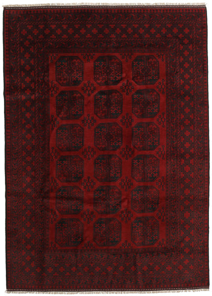 Afghan Rug 204X284 Authentic  Oriental Handknotted Dark Brown/Dark Red (Wool, Afghanistan)