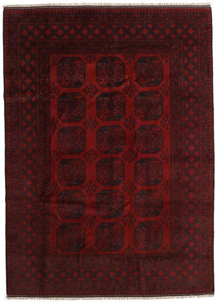 Afghan Sag 204X284 Autentični  Orijentalni Ručno Uzlan Tamnocrvena (Vuna, Afganistan)