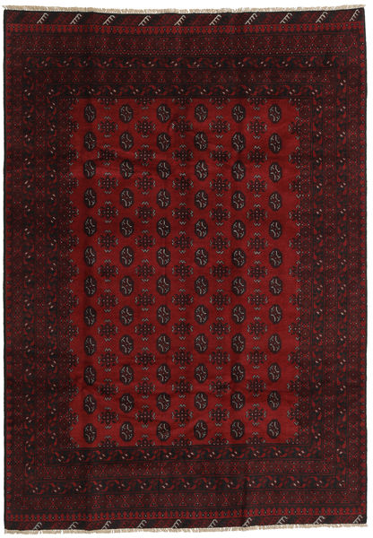 Afghan Rug 194X279 Authentic  Oriental Handknotted Dark Red/Crimson Red (Wool, Afghanistan)