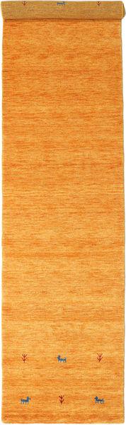 Gabbeh Loom Two Lines - Orange Rug 80X350 Modern Hallway Runner  Orange (Wool, India)