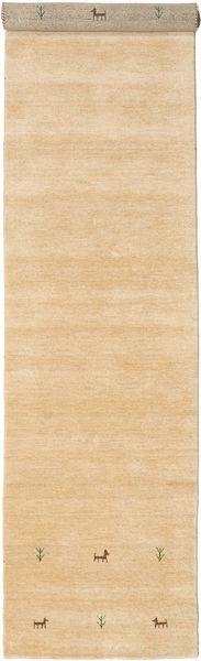 Gabbeh Loom Two Lines - Beige Tapis 80X350 Moderne Tapis Couloir Marron Clair/Beige Foncé (Laine, Inde)