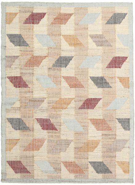 Flakes Rug 140X200 Authentic  Modern Handwoven Light Brown/Beige ( India)
