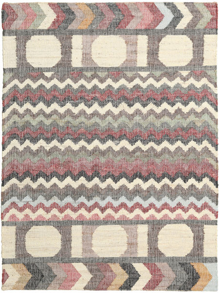 Arrows Rug 140X200 Authentic  Modern Handwoven Beige/Dark Grey ( India)