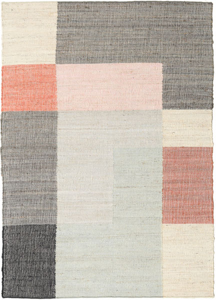 Fields Rug 160X230 Authentic  Modern Handwoven Beige/Light Grey ( India)