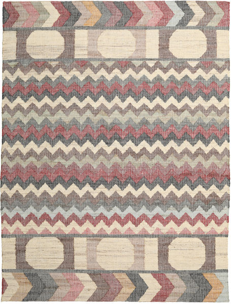 Arrows Rug 250X350 Authentic  Modern Handwoven Light Brown/Light Grey Large ( India)