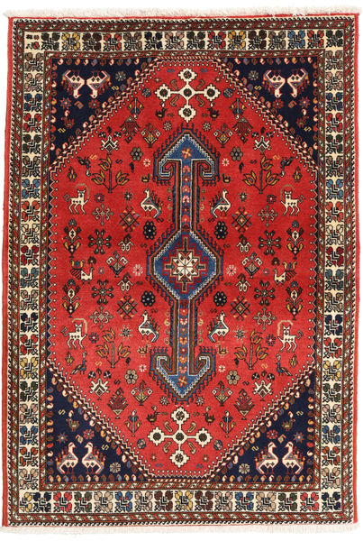 Abadeh Rug 98X144 Authentic  Oriental Handknotted Dark Red/Rust Red (Wool, Persia/Iran)