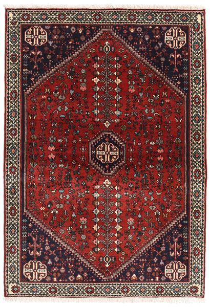 Abadeh Matto 107X151 Itämainen Käsinsolmittu Tummanpunainen/Musta (Villa, Persia/Iran)