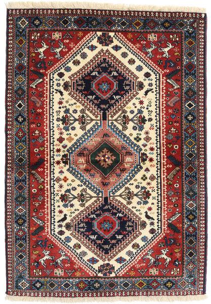 Yalameh Matto 98X141 Itämainen Käsinsolmittu Tummanpunainen/Tummansininen (Villa, Persia/Iran)