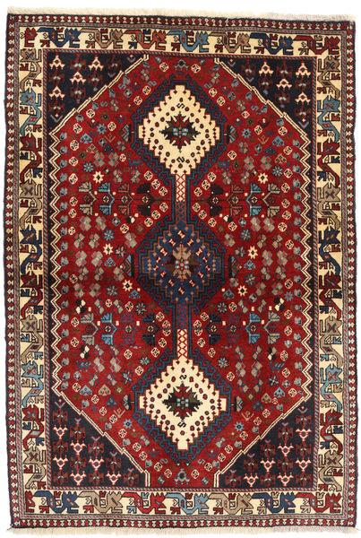 Yalameh Matto 105X150 Itämainen Käsinsolmittu Tummanpunainen/Tummanharmaa (Villa, Persia/Iran)