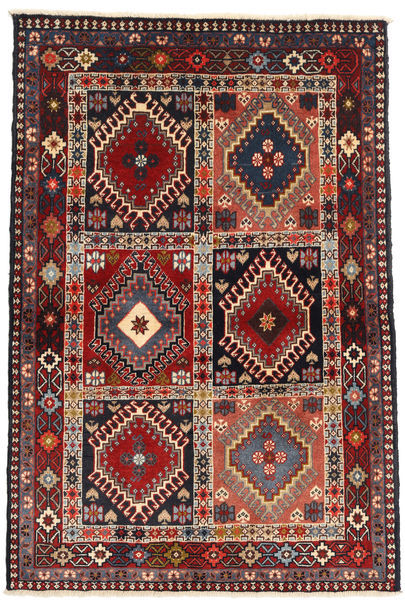 Yalameh Rug 104X147 Authentic  Oriental Handknotted Dark Brown/Dark Red (Wool, Persia/Iran)