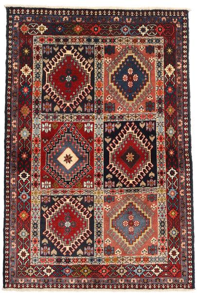 Yalameh Tapis 104X147 D'orient Fait Main Marron Foncé/Rouge Foncé (Laine, Perse/Iran)