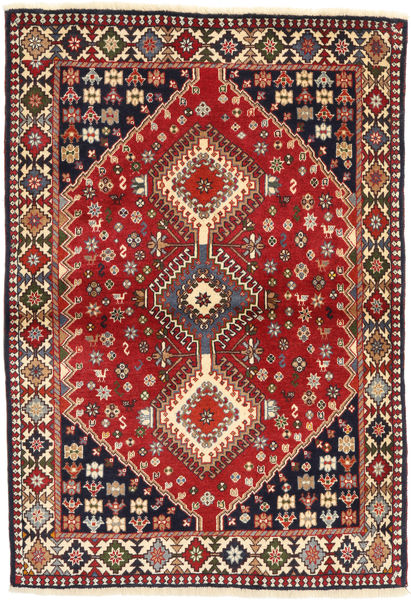 Yalameh Rug 102X147 Authentic  Oriental Handknotted Dark Blue/Brown (Wool, Persia/Iran)