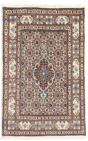 Moud Matto 77X117 Itämainen Käsinsolmittu Vaaleanruskea/Beige (Villa/Silkki, Persia/Iran)