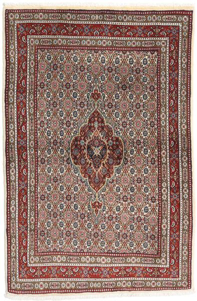 Moud Rug 100X150 Authentic  Oriental Handknotted Brown/Dark Brown (Wool/Silk, Persia/Iran)