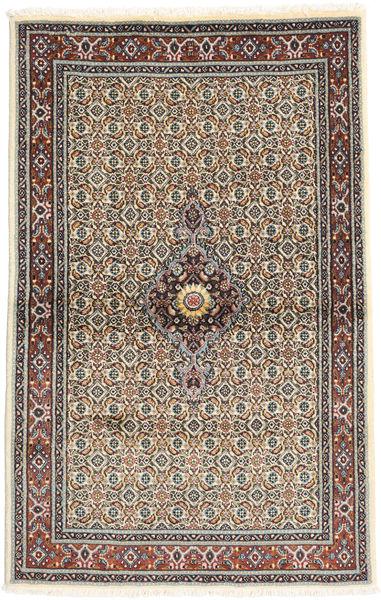 Moud Rug 100X150 Authentic  Oriental Handknotted Light Grey/Beige (Wool/Silk, Persia/Iran)