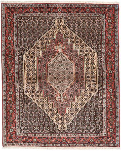 Senneh Matto 125X153 Itämainen Käsinsolmittu Vaaleanruskea/Tummanruskea (Villa, Persia/Iran)