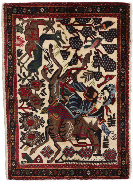 Afshar Rug 70X100 Authentic  Oriental Handknotted Black/Light Brown (Wool, Persia/Iran)