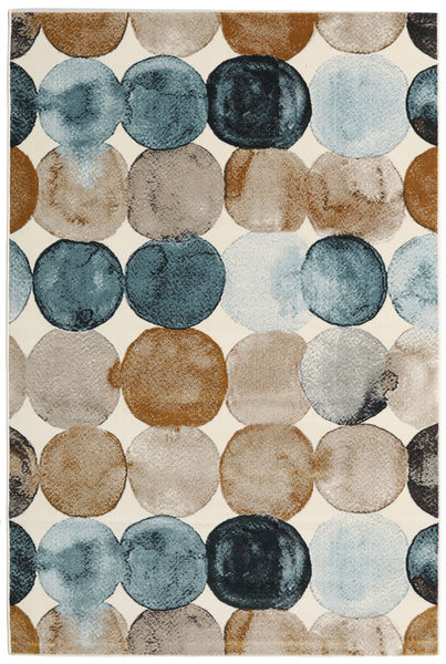 Dreamy Dots Rug 120X180 Modern Light Brown/Light Grey ( Turkey)