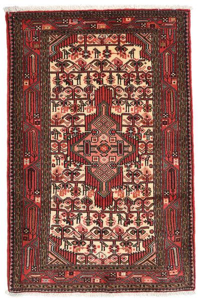 Asadabad Rug 83X127 Authentic  Oriental Handknotted Dark Red/Dark Brown (Wool, Persia/Iran)