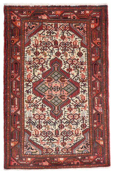 Asadabad Rug 78X123 Authentic  Oriental Handknotted Brown/Black (Wool, Persia/Iran)