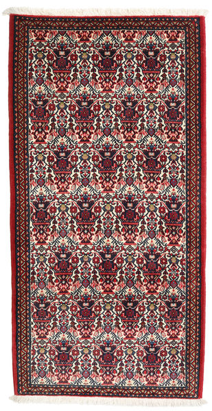 Abadeh Matto 73X144 Itämainen Käsinsolmittu Tummanpunainen/Tummansininen (Villa, Persia/Iran)