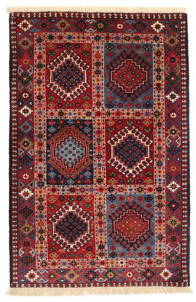 Yalameh Teppe 80X125 Ekte Orientalsk Håndknyttet Mørk Rød/Svart (Ull, Persia/Iran)