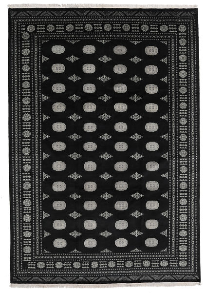 Pakistan Bokhara 2Ply Rug 240X348 Authentic  Oriental Handknotted Black/Dark Grey (Wool, Pakistan)