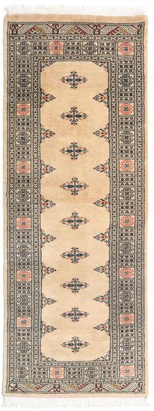 Pakistan Bokhara 3Ply Rug 81X206 Authentic  Oriental Handknotted Hallway Runner  Light Brown/Dark Beige (Wool, Pakistan)