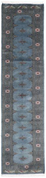 Pakistan Bokhara 2Ply Matto 75X302 Itämainen Käsinsolmittu Käytävämatto Sininen/Tummanharmaa (Villa, Pakistan)