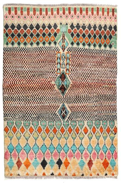 Barchi/Moroccan Berber - Afganistan Rug 95X145 Authentic  Modern Handknotted Dark Brown/Light Brown (Wool, Afghanistan)