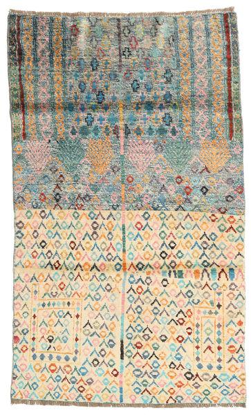 Barchi/Moroccan Berber - Afganistan Matto 107X181 Moderni Käsinsolmittu Keltainen/Beige (Villa, Afganistan)
